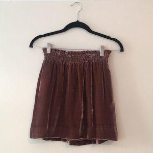 J CREW Velvet Skirt